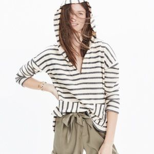Madewell striped context hoodie